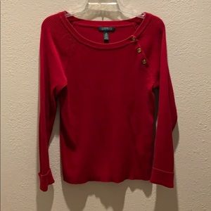 Ralph Lauren Scoop-neck Sweater Red L